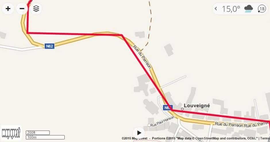 afwijking van een GPS
